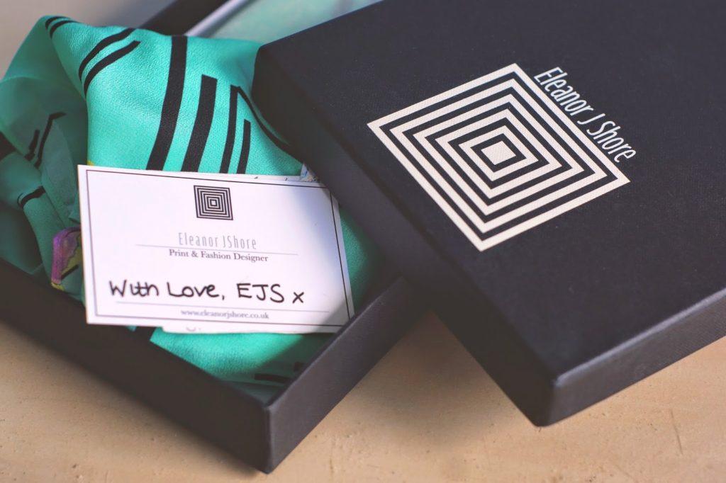 eleanor j shore scarves in box
