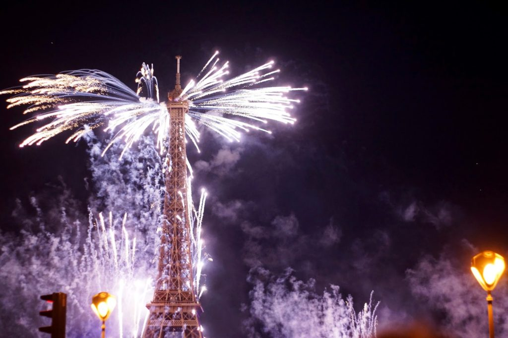 Hello Freckles Paris Eiffel Tower 14 Juillet Bastille Day Fireworks