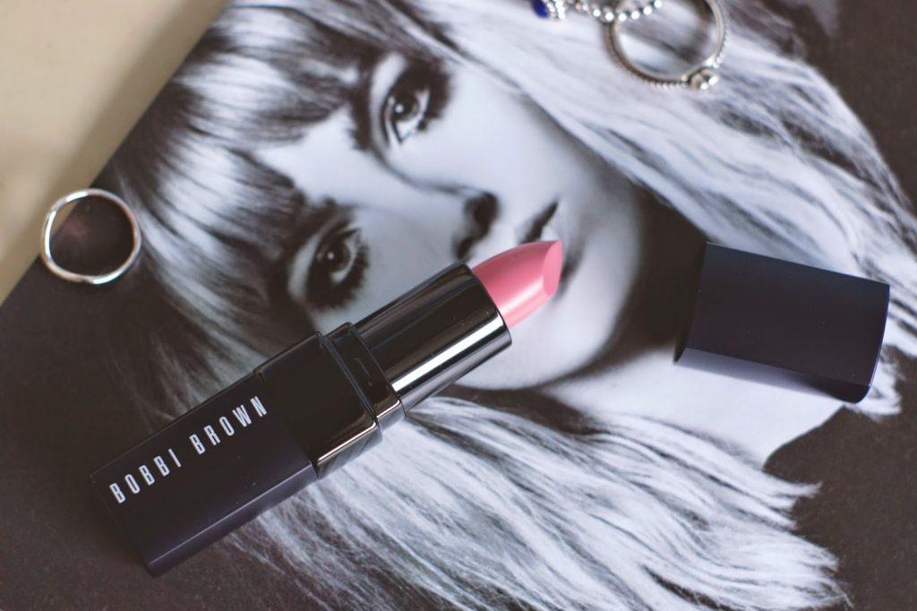 Hello Freckles Bobbi Brown Bikini Pink Lipstick Review