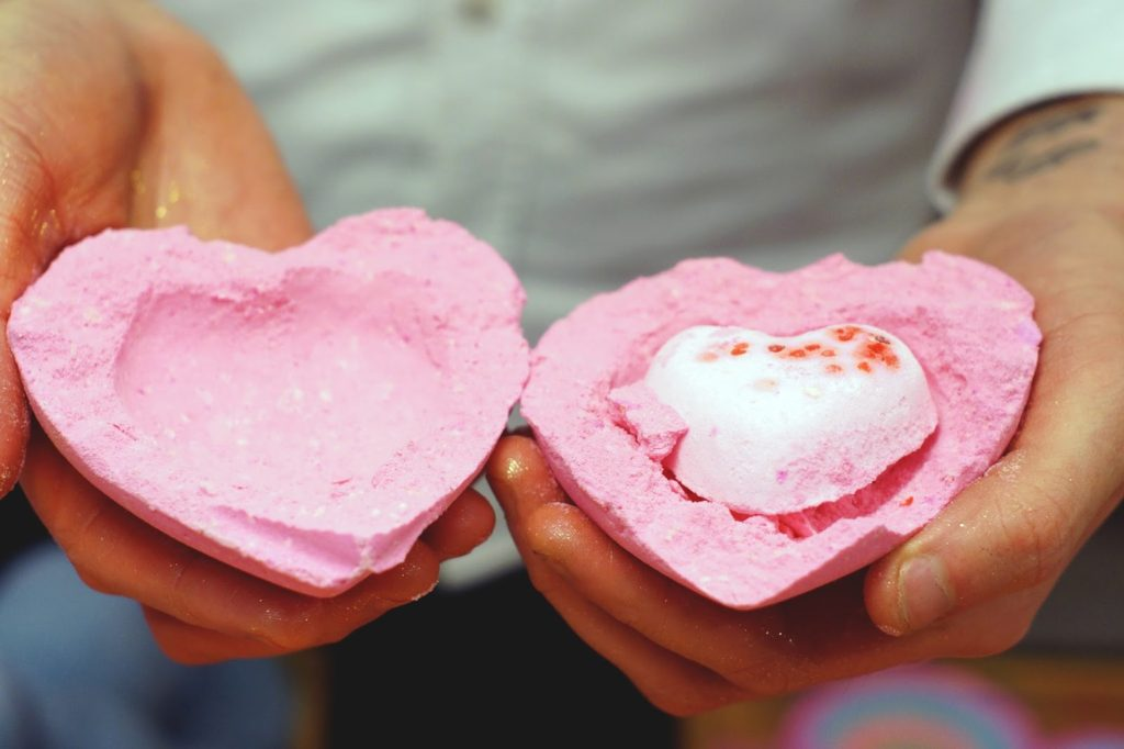 Hello Freckles LUSH Valentine's Day 2015 Love Locket Inside