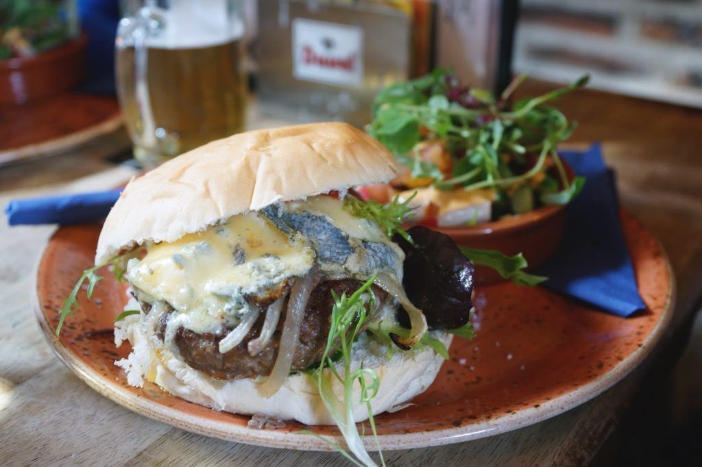 Hello Freckles House of Trembling Madness York Blue Cheese Burger