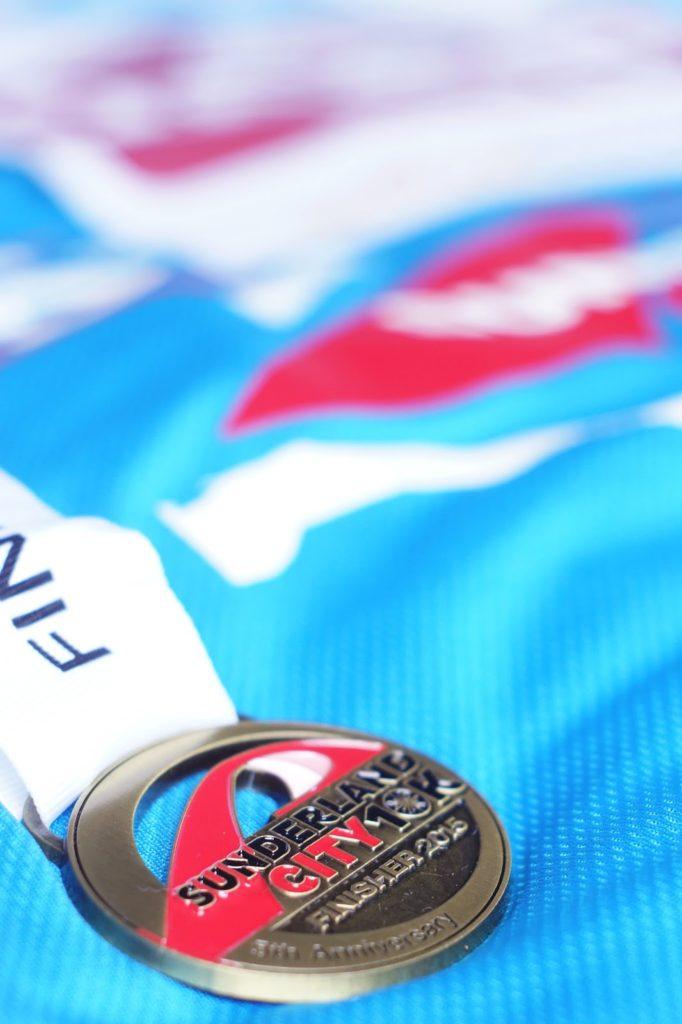 Hello Freckles Sunderland City 10k Medal
