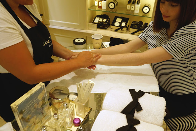 Hello Freckles #FenwickBeautyWeek Jo Malone Hand and Arm Massage