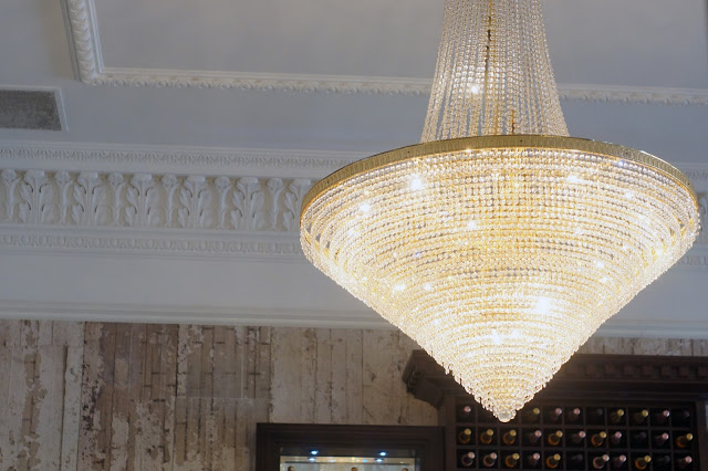Hello Freckles Afternoon Tea Seaham Hall Chandelier