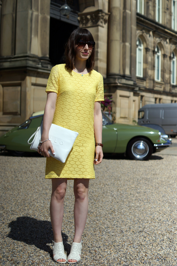 Hello Freckles Yellow Dress Bowes Museum Outfit
