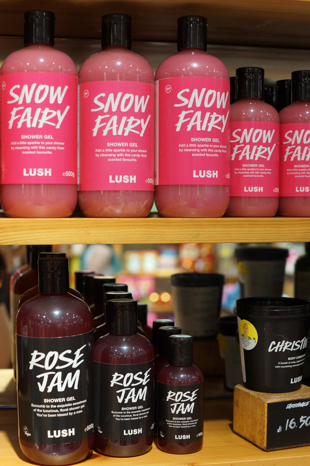 Hello Freckles LUSH Christmas 2015 Snow Fairy and Rose Jam Shower