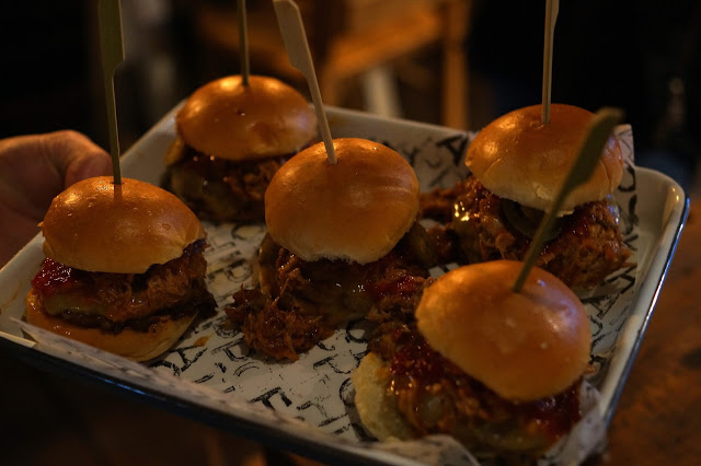 Hello Freckles Fat Hippo Durham Opening Night Launch Slider Burgers