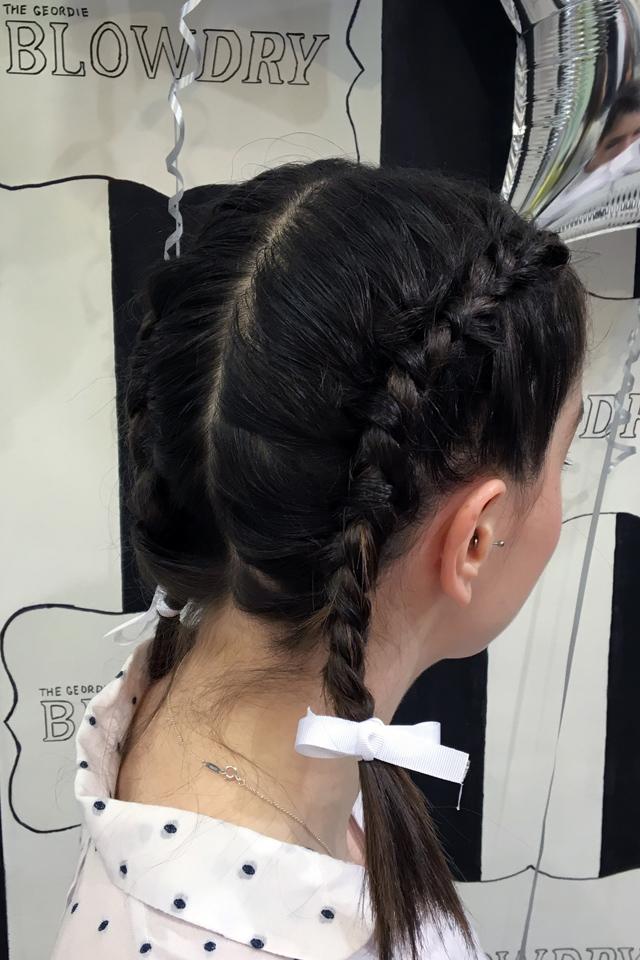 Hello Freckles Loreal Hair Fashion Night Y Salon Newcastle Reverse Braids Kylie Jenner
