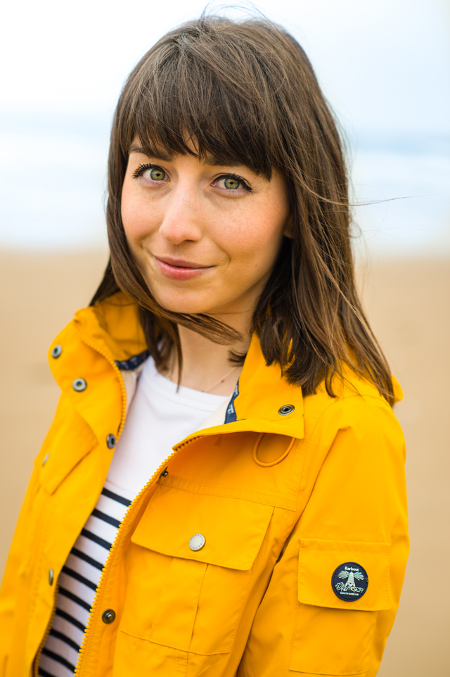 Hello Freckles Barbour Seafarer Yellow Waterproof Jacket Outerwear Fashion
