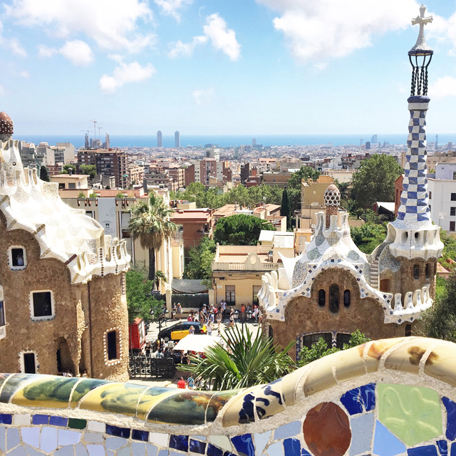 Barcelona Hello Freckles August Summer Travel Blogger City Break Spain Parc Guell Gaudi Architecture