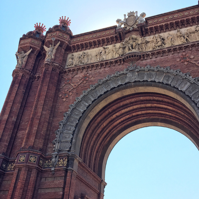 Barcelona Hello Freckles August Summer Travel Blogger City Break Spain Arc De Triomf Architecture