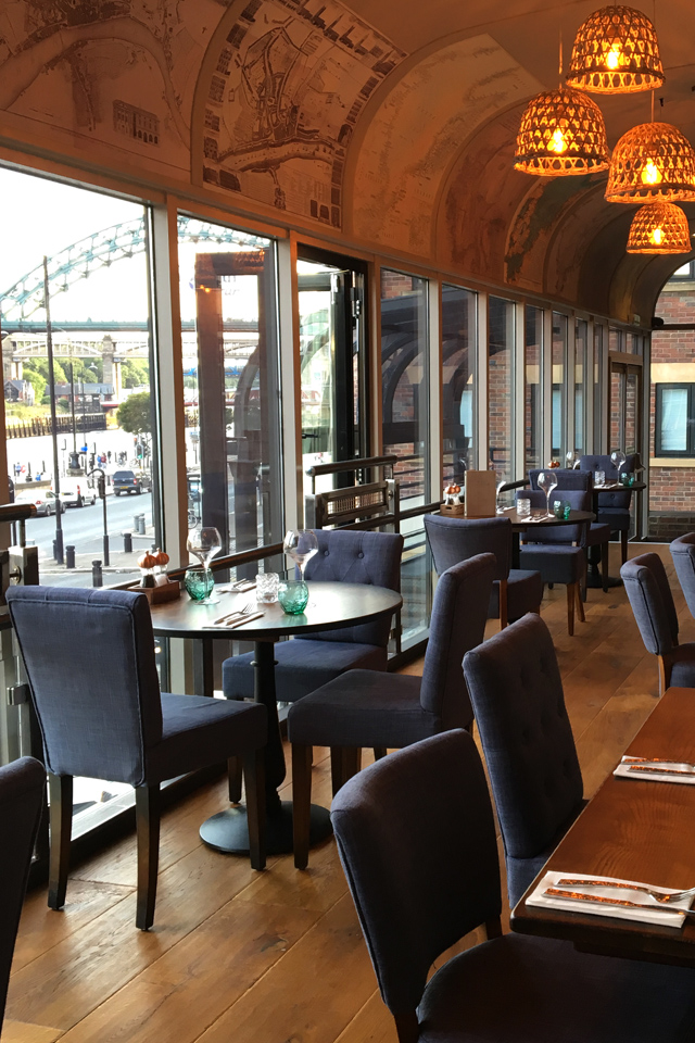 The Jolly Fisherman on the Quay Newcastle Restaurant Review Launch River Tyne View