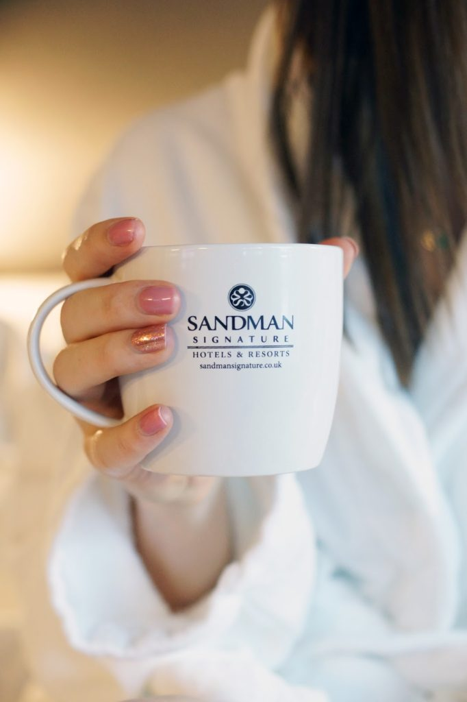 Hello Freckles Sandman Signature Hotel Newcastle Review Staycation Overnight Stay Cosy Robe and Cuppa