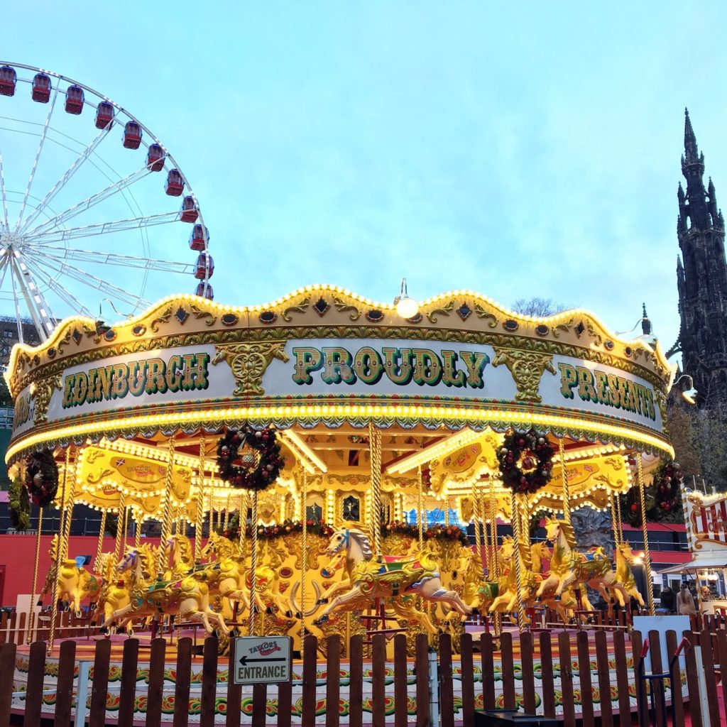 Hello Freckles Edinburgh Fairground Christmas Market City Break Travel Guide