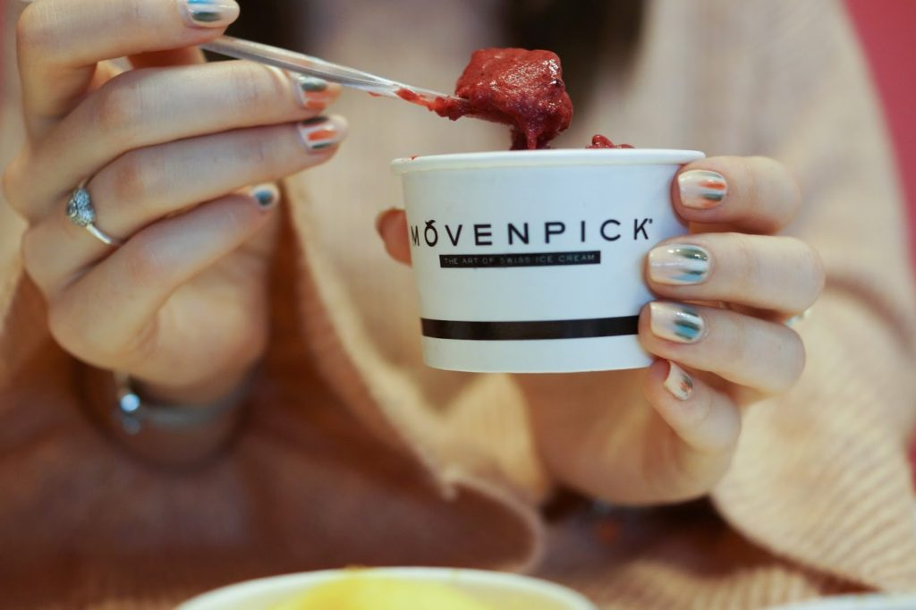 Hello Freckles Movenpick Swiss Ice Cream Boutique Intu MetroCentre Review Sorbet