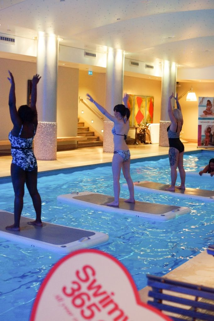 Hello Freckles Swimwear365 SS17 AquaFit Class Haymarket London Bikini Fitness