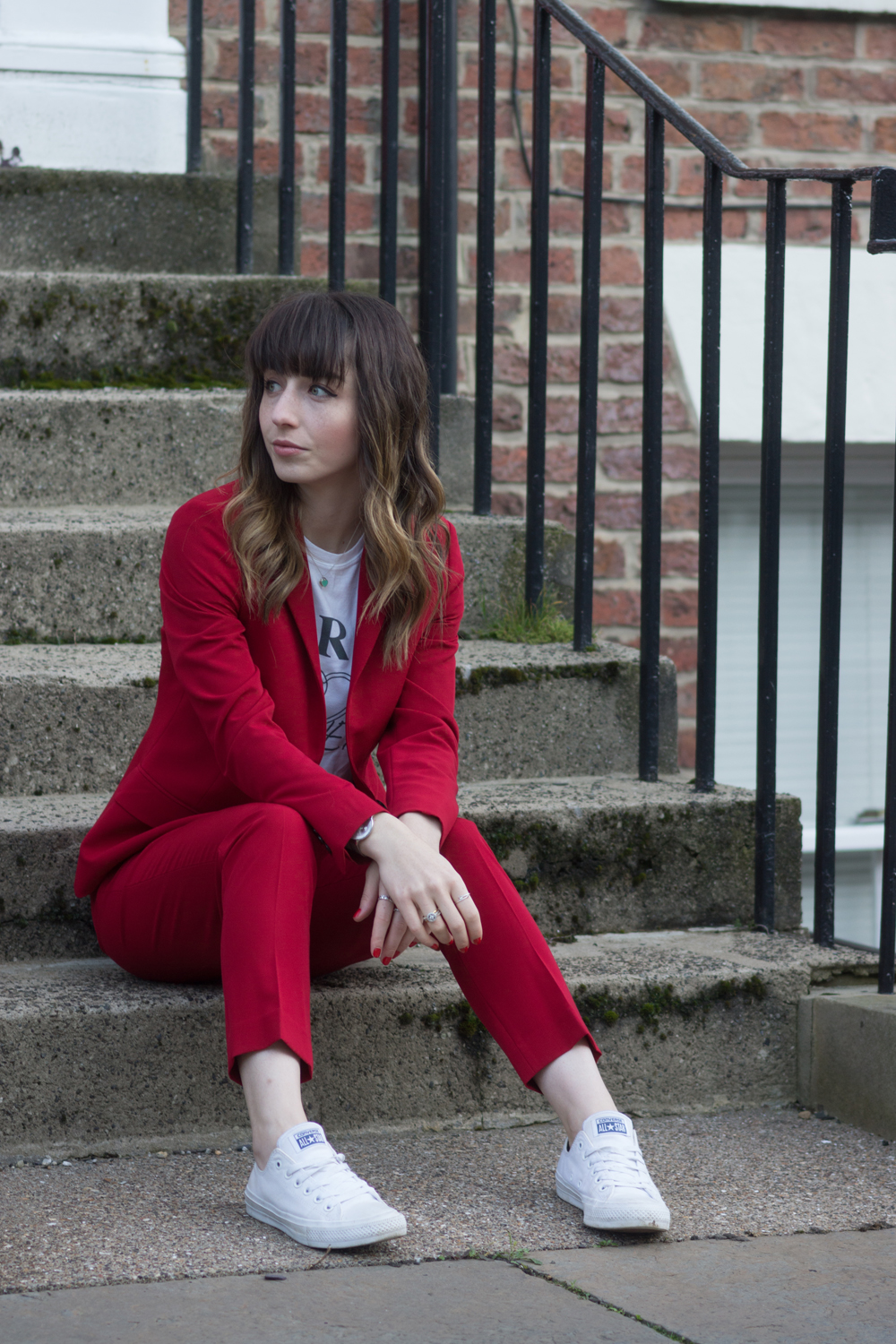 Hello Freckles Red Suit Tailoring