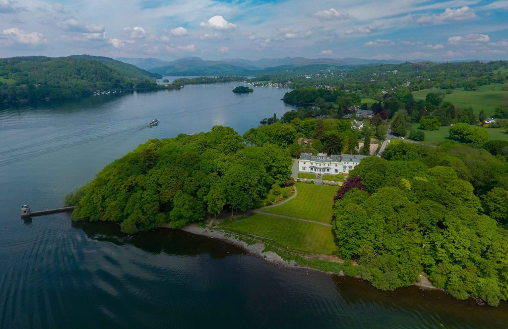 Storrs Hall Aerial Windermere Lake District