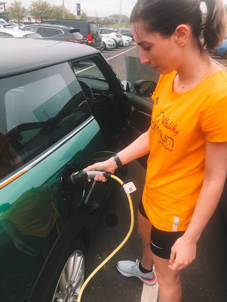MINI Electric extended test drive charging point Dalton Park