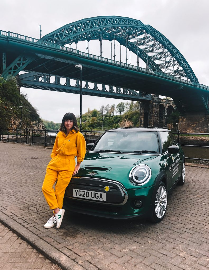MINI Electic extended test drive Sunderland Wearmouth bridge. Hello Freckles